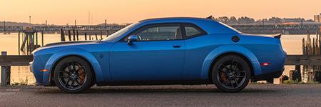 Blue Dodge Challenger