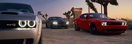 Three Dodge Challengers