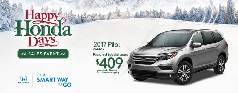 Detroit Area Honda Dealers Happy Honda Days 2017 Pilot Lease Offer
