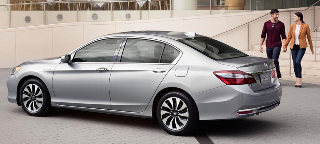 2017 Honda Accord Hybrid Exterior Silver Rear Angle