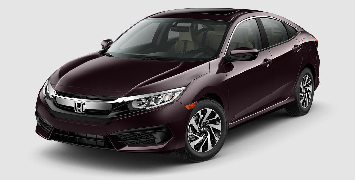 Kbb names 2017 honda civic ex best auto tech value for Honda civic dealership