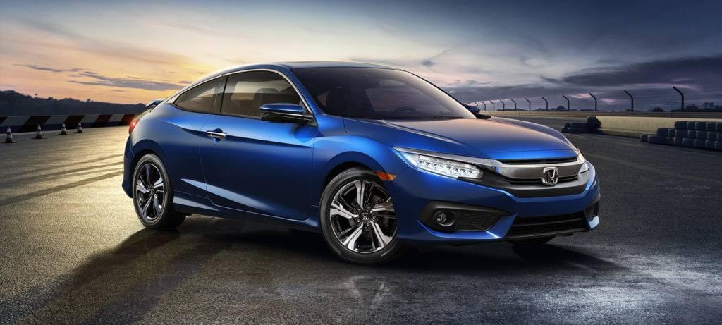 2017 Honda Civic Coupe Exterior Front Passenger Side