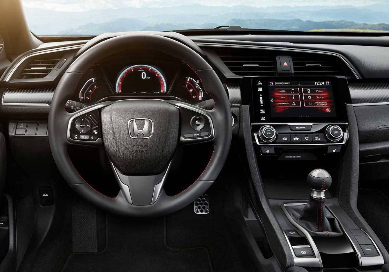 2017 Honda Civic Si Sedan Interior Driver POV