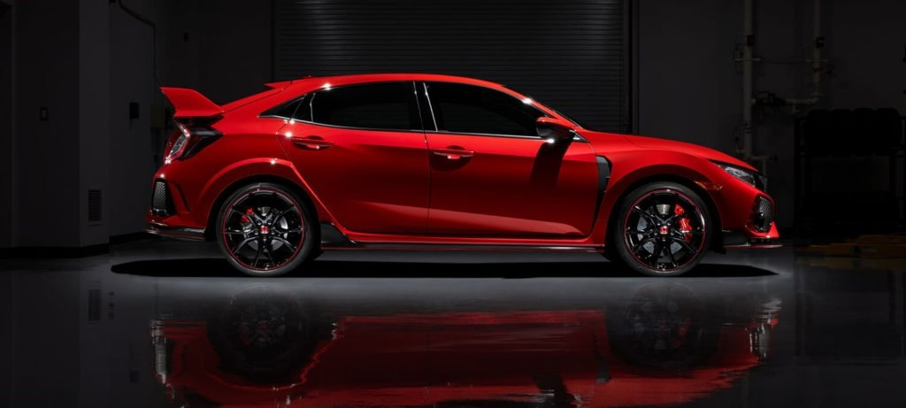2017 Honda Civic Type R Exterior Side Profile Red