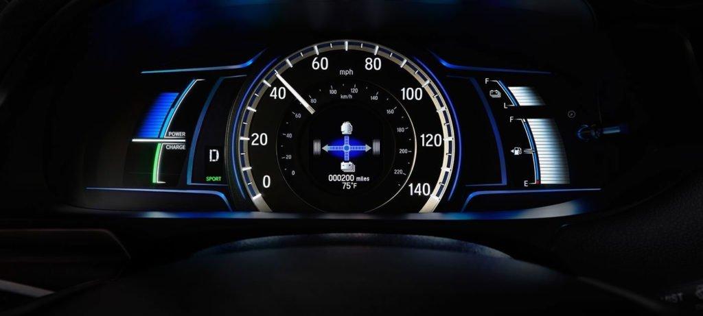 2017 honda accord hybrid speedometer