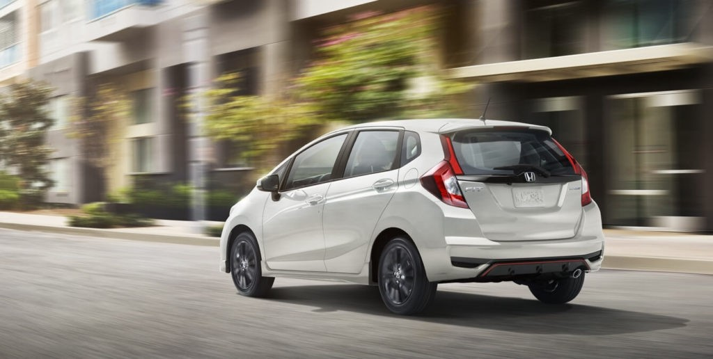 2018 Honda Fit Exterior Rear Angle Driver Side