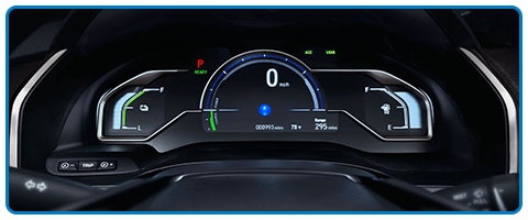 2017 Honda Clarity Fuel Cell Gauges