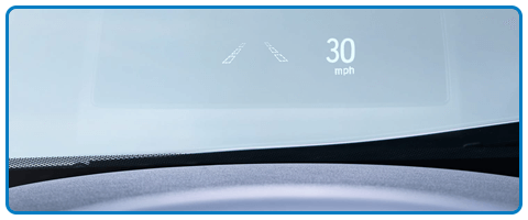 2017 Honda Clarity Fuel Cell Head-Up Display