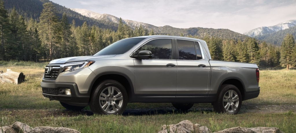 2018 Honda Ridgeline Exterior Front Driver Side Mountains