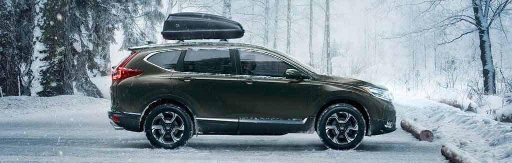 Honda CR-V parked in snow
