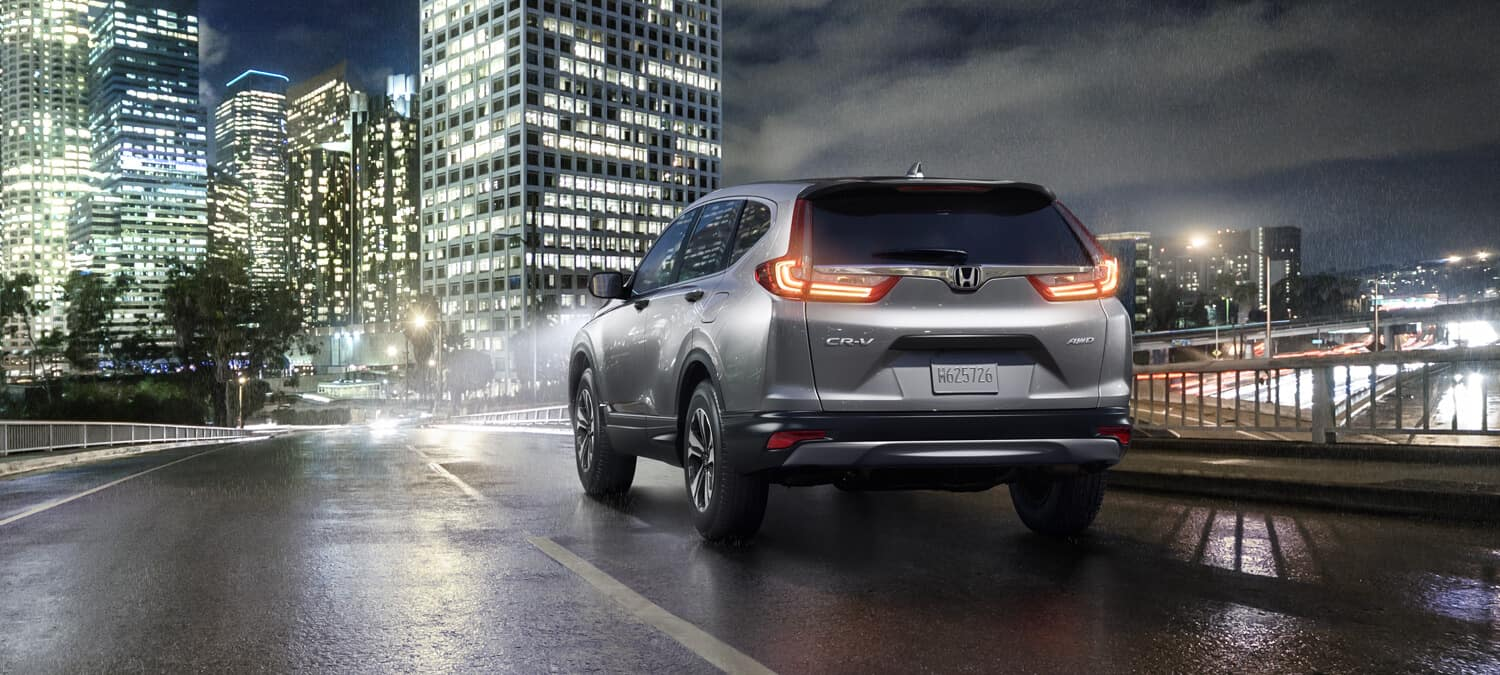 2018 Honda CR-V Exterior Rear Angle City Night