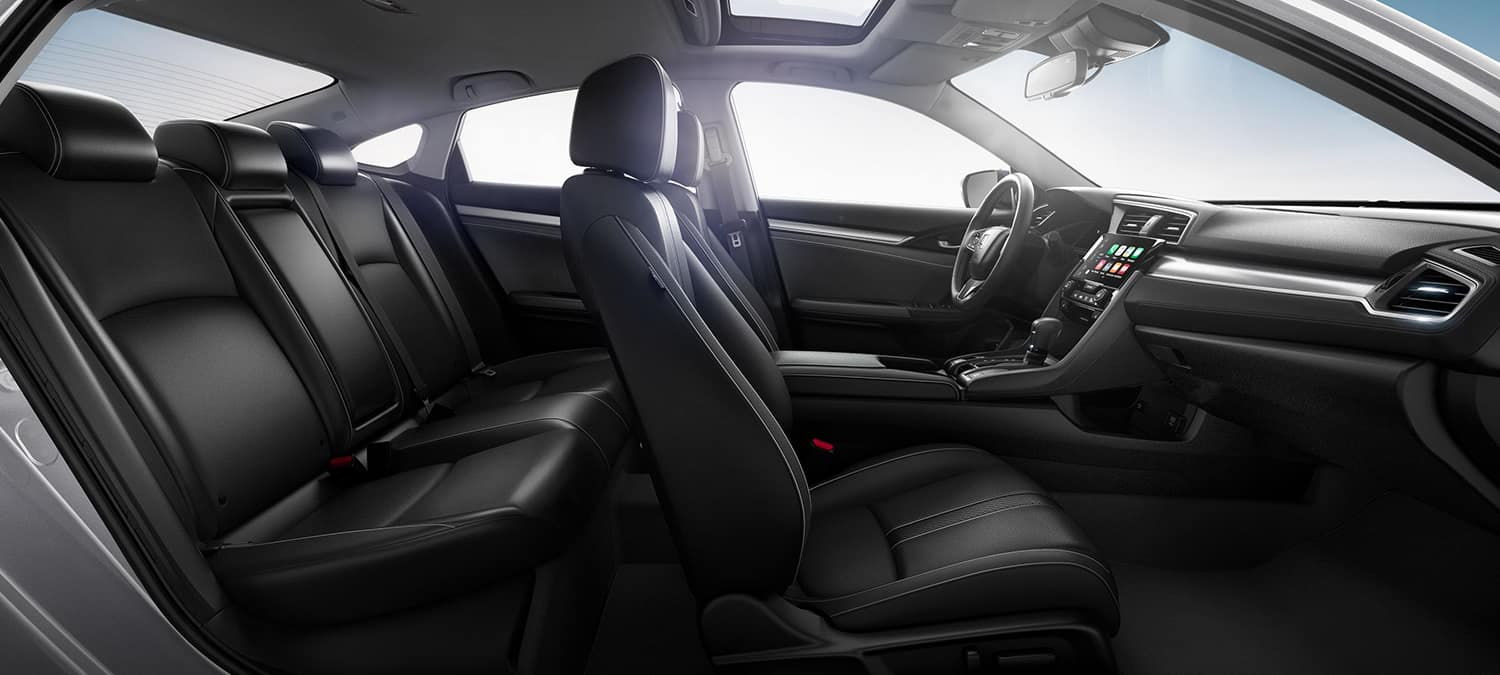 2018 Honda Civic Sedan Interior Seating Side Profile