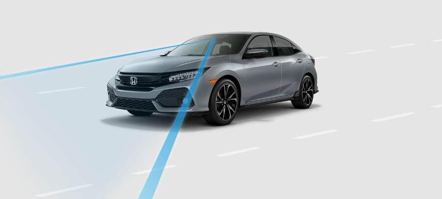 2018 Honda Civic Hatchback Road Departure Mitigation
