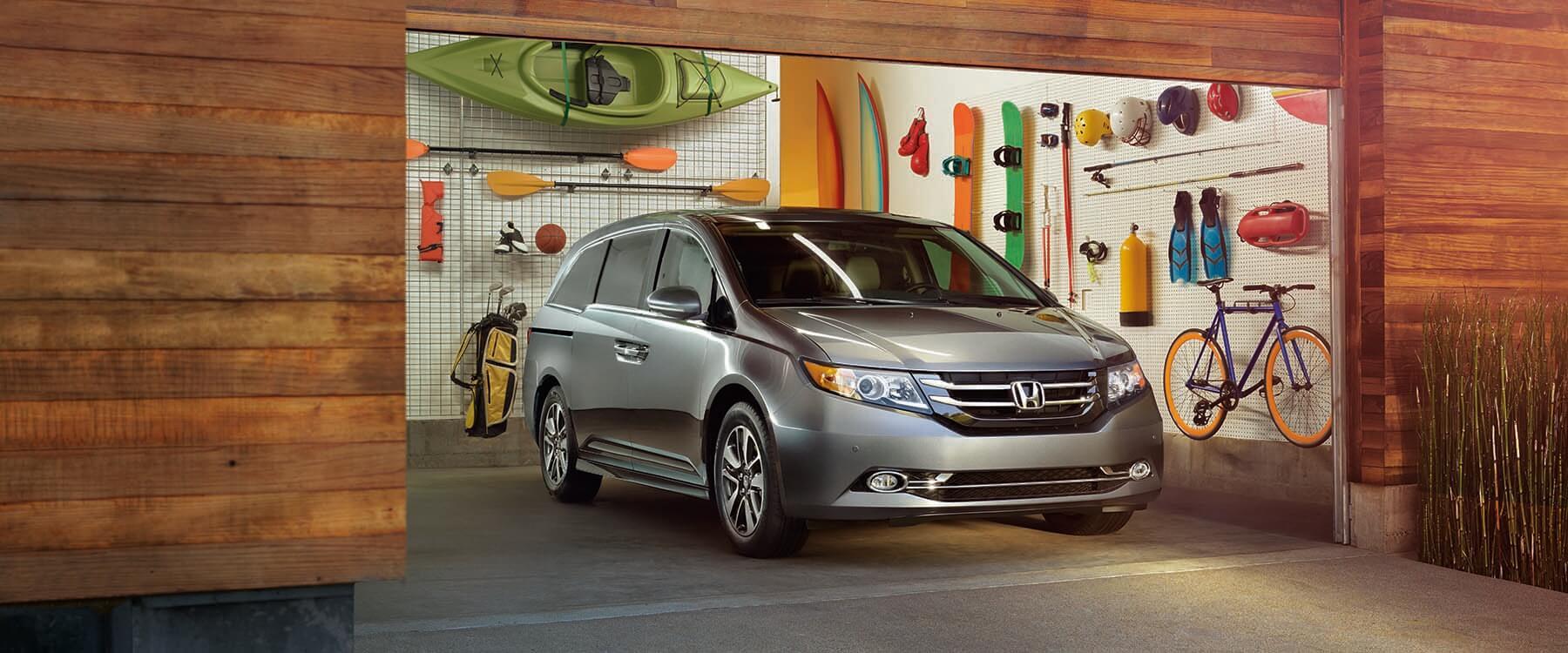 2017 Honda Odyssey parked in a garage