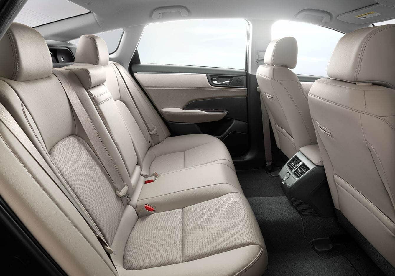 2018 Honda Clarity Plug-In Hybrid Interior Rear Seating