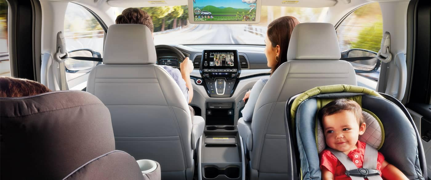 2018 Honda Odyssey Interior View From The Backseat
