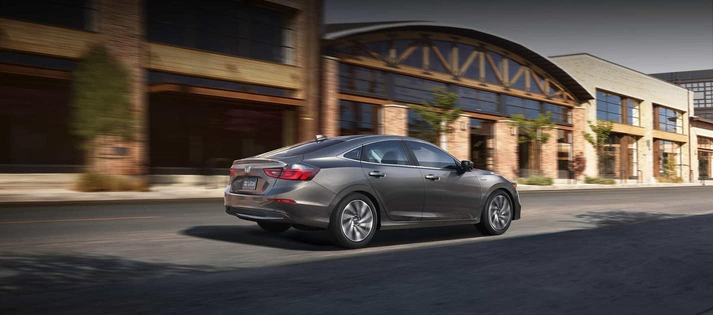 2019 Honda Insight Silver Back View