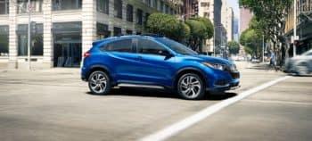2019 Honda HR-V Blue Side View