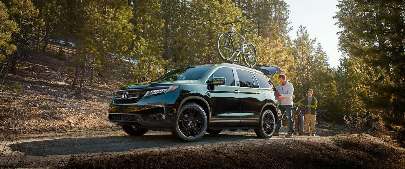 2019 Honda Pilot Off Road With Bike On Roof