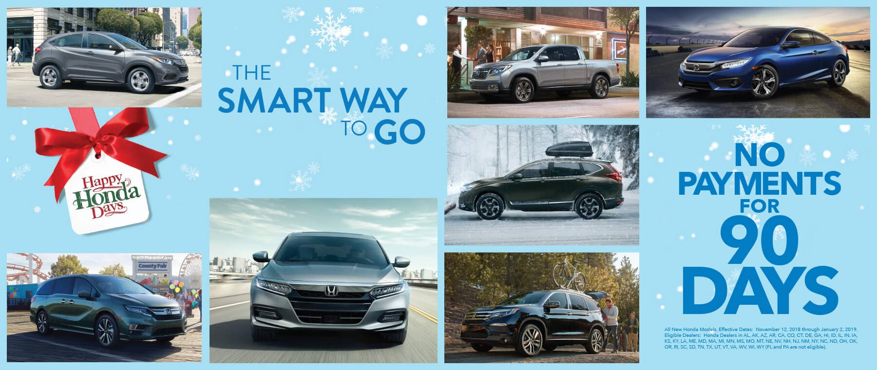 Detroit Area Honda Dealers Happy Honda Days 90-Day Deferment