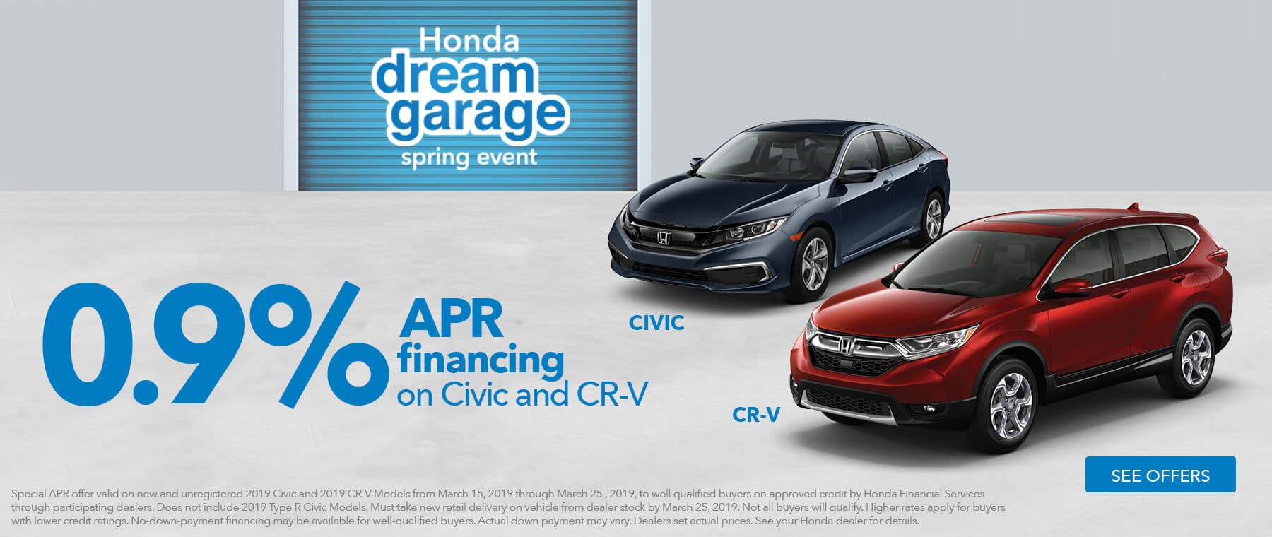 Detroit Area Honda Dealers 2019 Honda Dream Garage APR Financing HP Slide