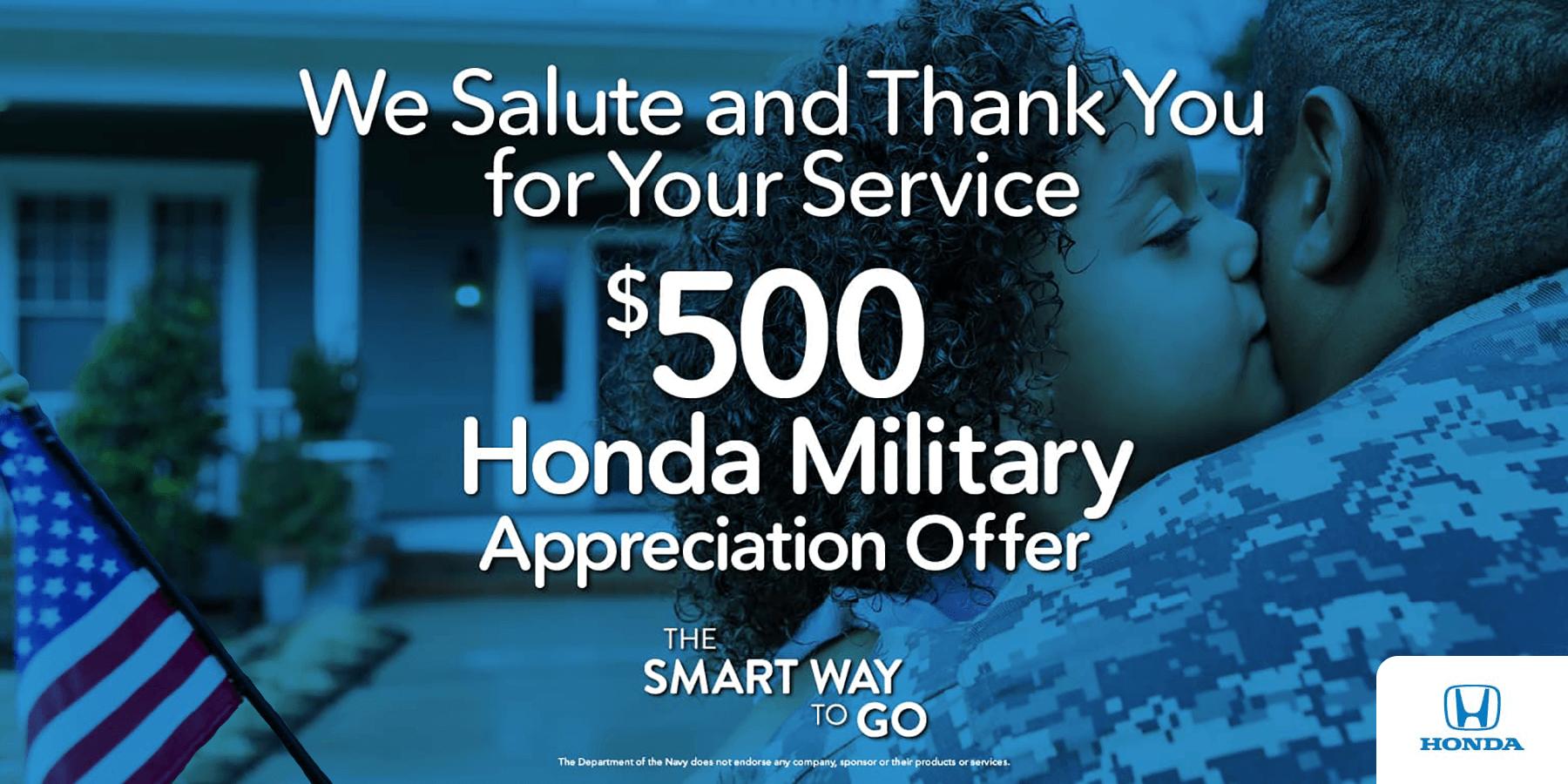 2019 Honda Military Appreciation Offer HP Slide