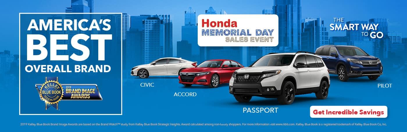 2019 Honda Memorial Day Sales Event Detroit Area Honda Dealers Banner
