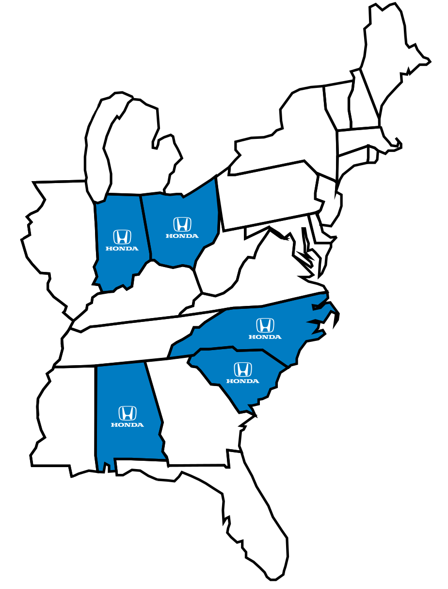 Honda United States Plant Locations