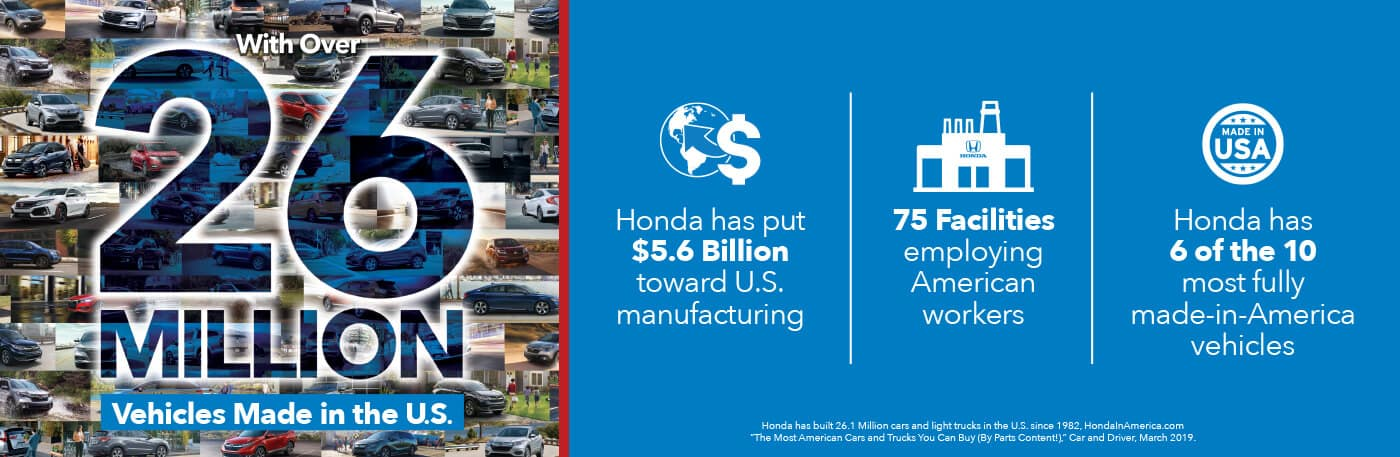 Detroit Area Honda Dealers Made in America Banner