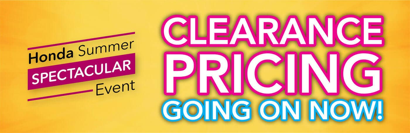 2019 Honda Summer Spectacular Event Clearance Pricing Banner