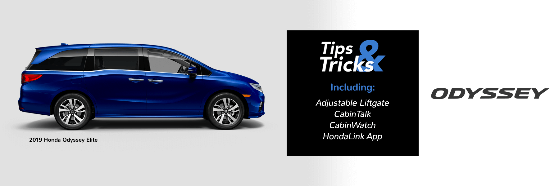 Honda Tips and Tricks 2019 Odyssey Slider