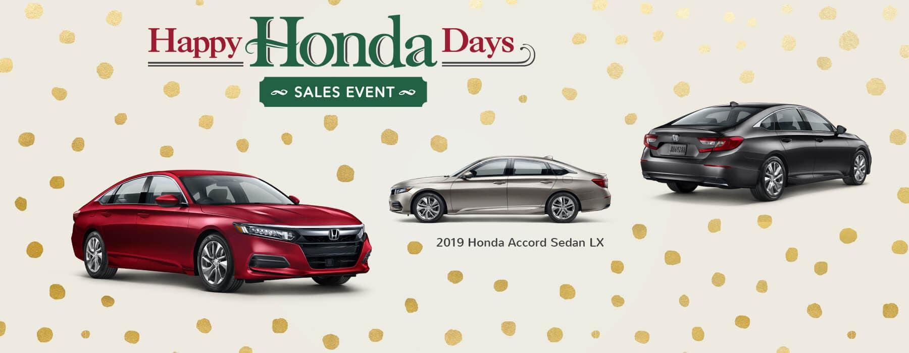 Happy Honda Days Sales Event 2019 Honda Accord Sedan Slider