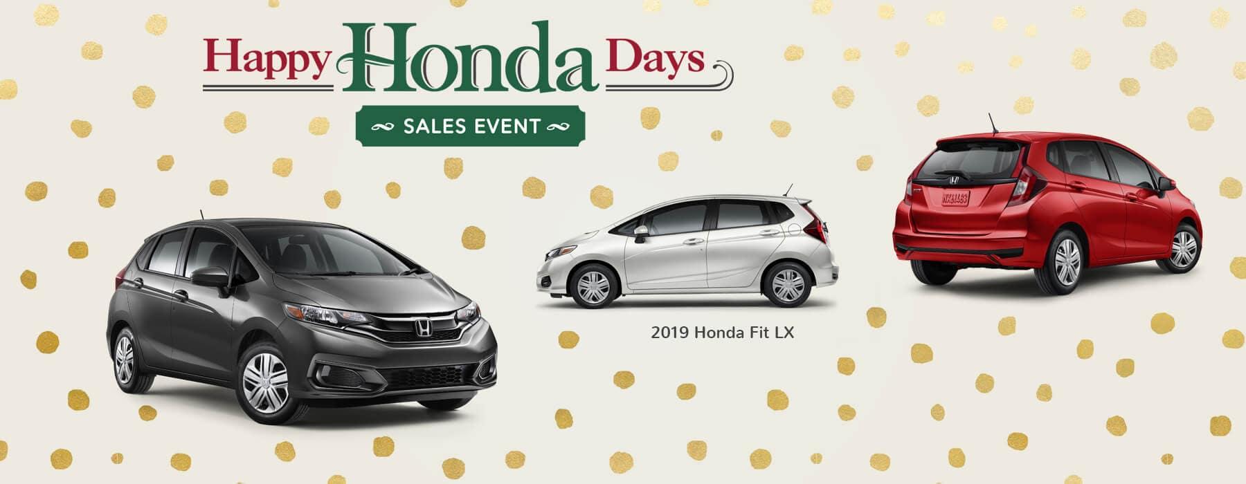 Happy Honda Days Sales Event 2019 Honda Fit Slider