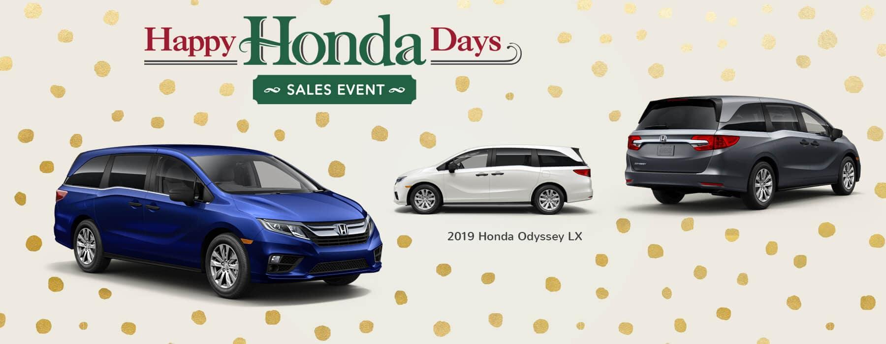 Happy Honda Days Sales Event 2019 Honda Odyssey Slider