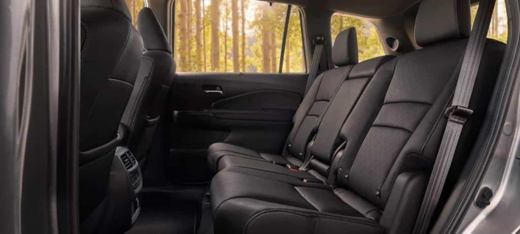 2020 Honda Pilot back row seating