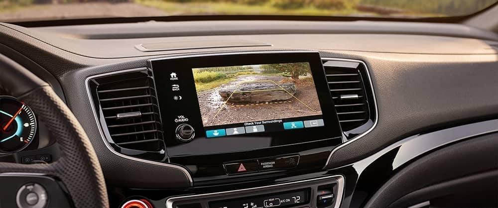 Back-up camera on infotainment console of 2020 Honda Passport