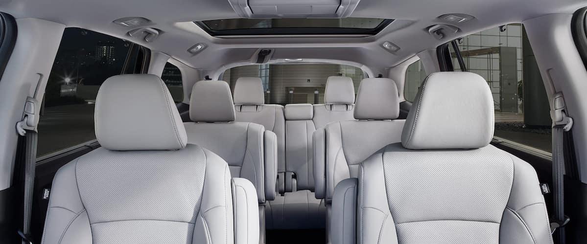 View of white seats inside 2021 Honda Pilot