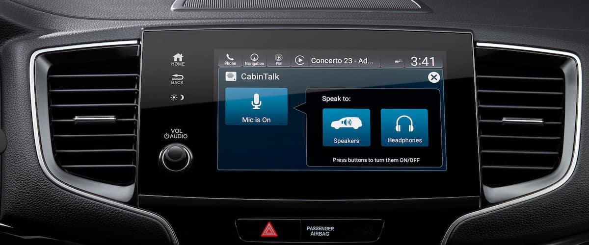 Close on cabin talk feature inside 2021 Honda Pilot
