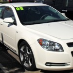 The 2008 Chevy Malibu in White