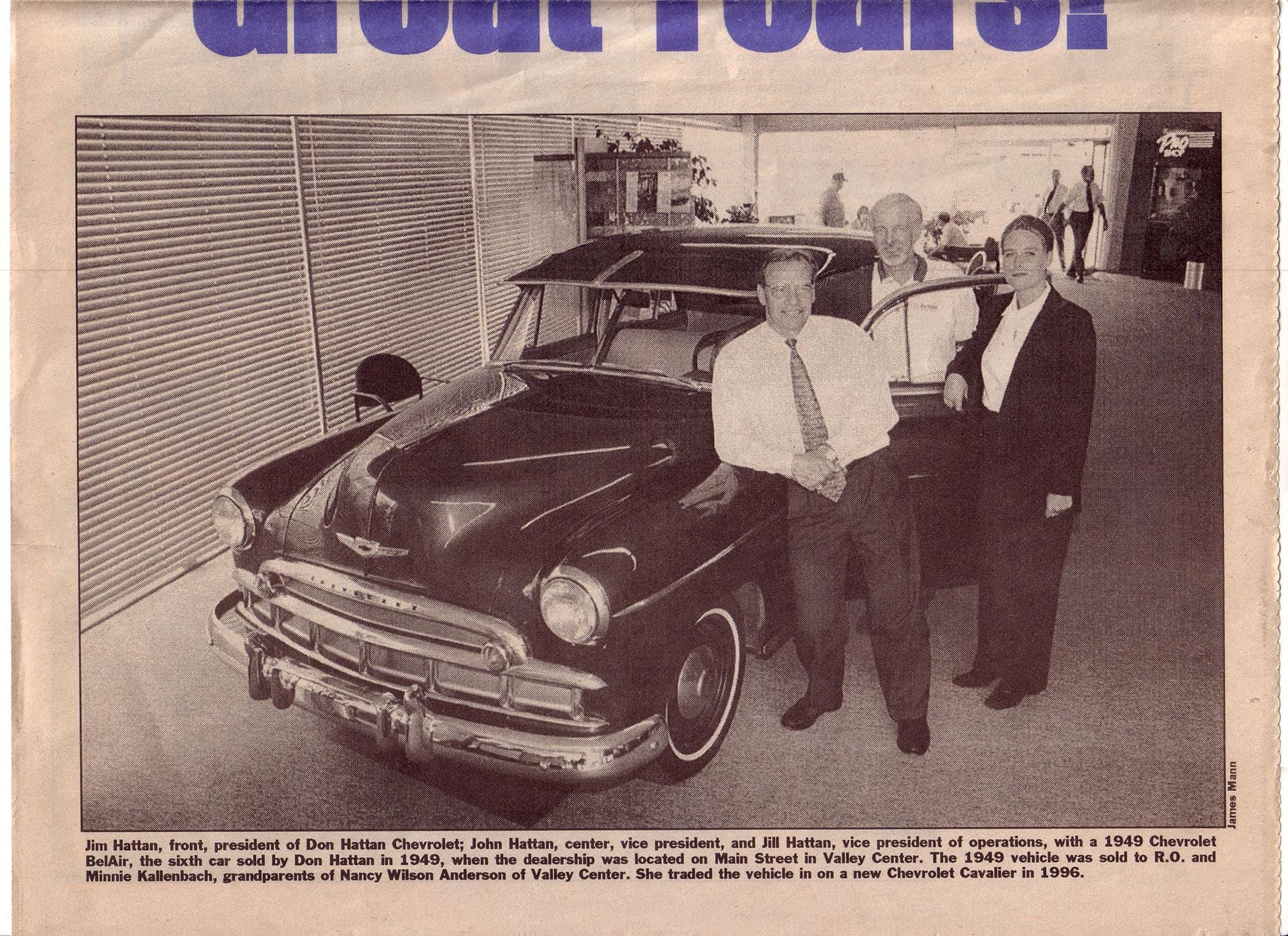 newspaper 1949 vehicle trade
