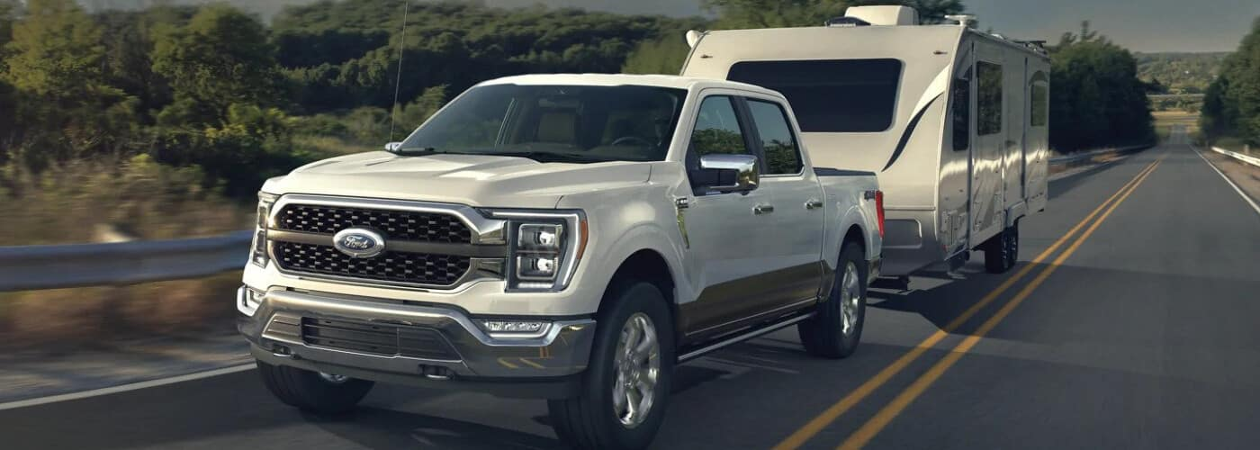 2021 Ford F-150 Towing a Trailer