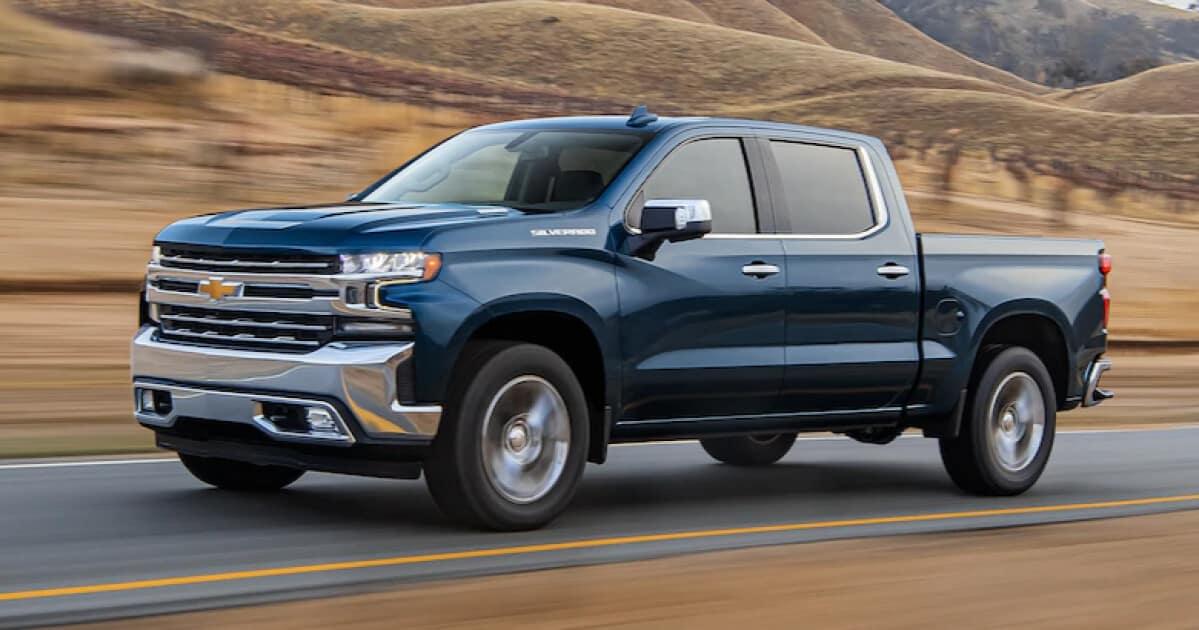2021 Chevrolet Silverado 1500 driving