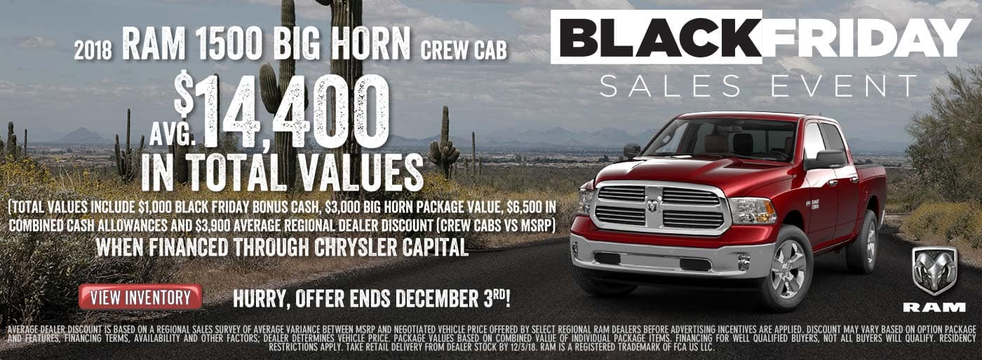 Lease a 2018 RAM Bighorn Crew Cab at Downtown Auto Group