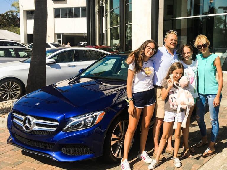 Fletcher Jones Newport Beach Mercedes Benz SUV With Customers