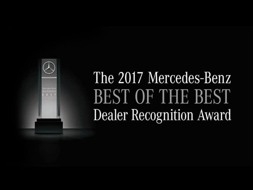 Best of the Best Dealer Recognition Award