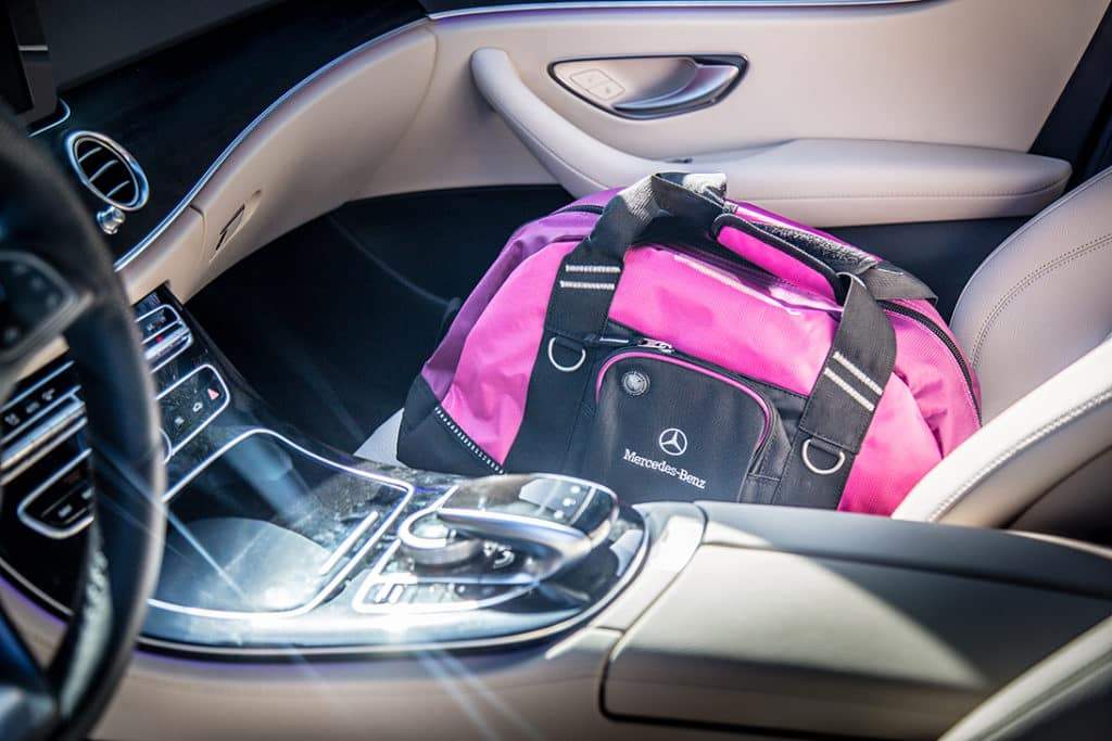 Mercedes-Benz Pink Duffle Bag