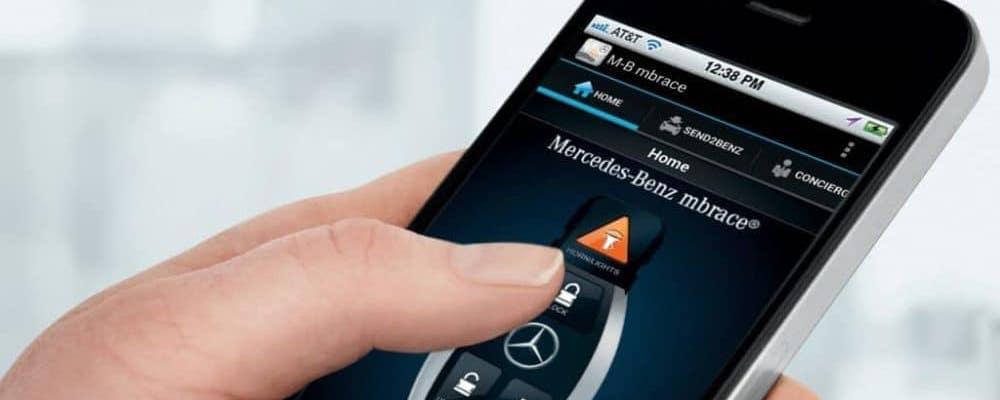 mbrace® app on a smartphone