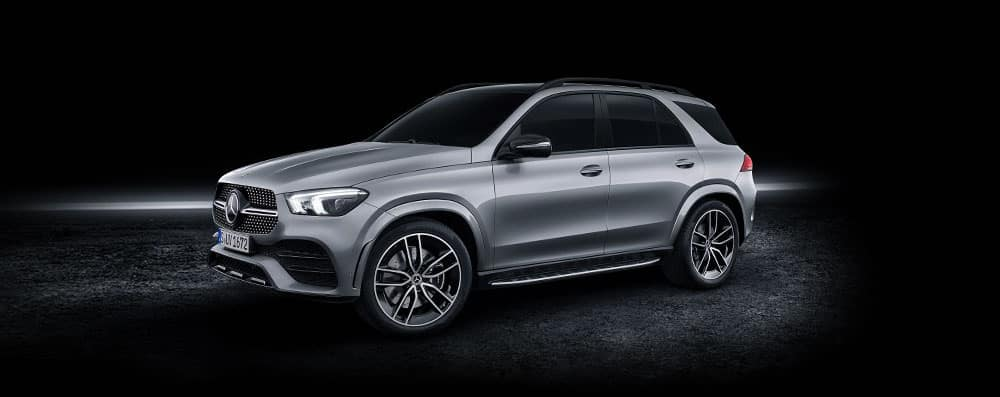 Silver 2020 GLE with shadowy background