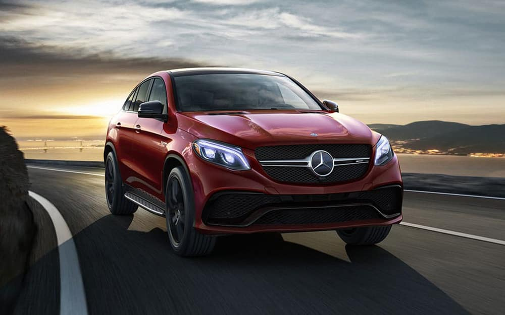 Red Mercedes-AMG GLE 43 Coupe