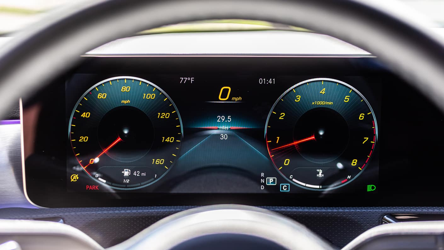 2020 CLA Coupe Dashboard